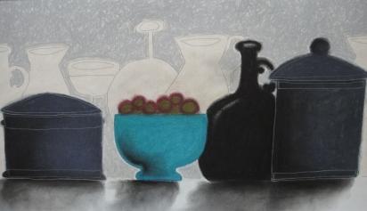 Blue Bowl + Black Bottle